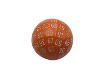 SkullSplitter Single 100 Sided Polyhedral Dice (D100)| Solid Orange Color (45mm)