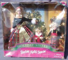 Barbie HOLIDAY SISTERS Kelly Stacie HAPPY HOLIDAYS Joyeux Noel 1998 Mattel 19809