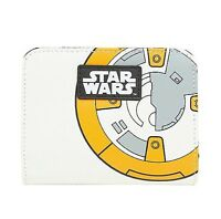Star Wars Disney BB-8 Character BB8 Interior Zip Pocket Billfold Bifold Wallet