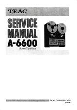 Service Manual-Anleitung für Teac A-6600