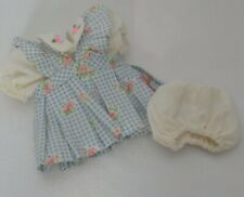 Muffy Vanderbear Clothes High Tea 4155 4160 Blue Checked Dress & Bloomers