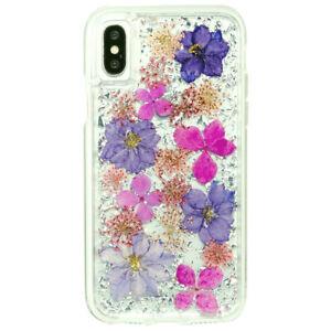 iPhone X Case-Mate Karat Purple Petals New XS 10 10s