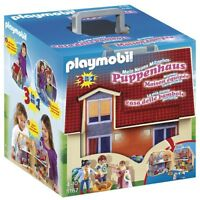 Playmobil Casa de Muñecas en Forma de Maletin Incluye Figuras Juguete Niño Niña