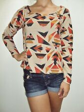 NEW VOLCOM SURF GIRLS WOMEN V.CO CARES L/S TOP CAMI GINGER SMALL ii61