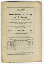 1912-13 Alabama PUBLIC HEALTH State Board; pharmacies medical doctors etc