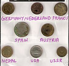 8 DIF COUNTRIES COINS WITH GERMANY NETHERLAND NEPAL AUSTRIA LOT # M 12