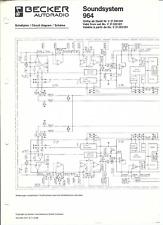 Becker Original Service Schaltplan für CD 964 Soundsystem