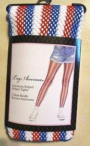 Leg Avenue Americana Striped Fishnet Tights*