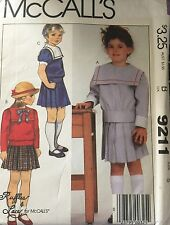 McCall's 9211 Girls' Top and Skirt Size 5 bust 24 Ruffles & Lace Pattern uncut