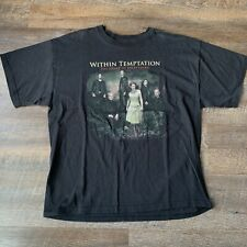 Vintage Band Tee 2007 Within Temptation Band Black Symphony Album Shirt Size XL