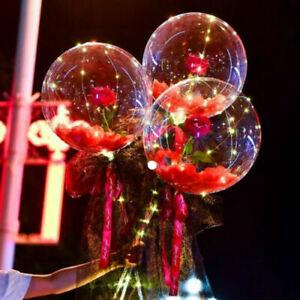 LED Luminous Balloon Rose Bouquet for Women Girlfriend Wife Anniversary Supplies