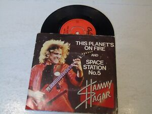"""SAMMY HAGAR - This Planet's On Fire [Burn In Hell] - 1979 UK AA-side 7"""" Single"""
