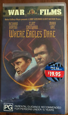 Where Eagles Dare Clint Eastwood Original Release RARE PAL VHS Video