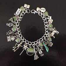 Wicked Charm Bracelet, Wizard Of Oz, Elphaba, Green Witch, Glinda The Good Witch