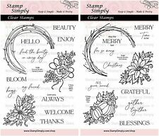 Stamp Simply Clear Stamps Seasonal Wreaths Spring Summer Fall & Winter Duo...