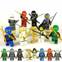 Ninjago Ninja Lot 8 Figurines Blocs Ninja  Kai Jay Cole Zane Nya compatible