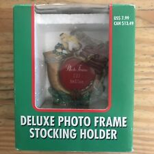 Stocking Holder Hanger Deluxe Photo Frame The Christmas Collection NIB~B15