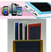 EXTERNAL POWER BANK 100000mah SOLAR DUAL USB FOR iPHONE PORTABLE DEVICE CHARGER