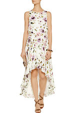 0c1ae660200 Haute Hippie Floral Print Draped Back Silk Hi Lo Dress Cocktail Size M