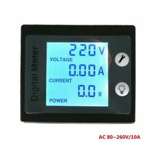 AC260V 10A Digital Voltmeter Ammeter Current VoltPower Energy Meter Blue LCD STN