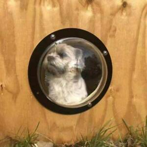 Dog Porthole Window Round Transparent for Fence Pets Peek Look Out Durable Dome