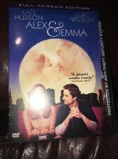 Alex and Emma (DVD, 2003, Snap Case) Full-Screen Edition