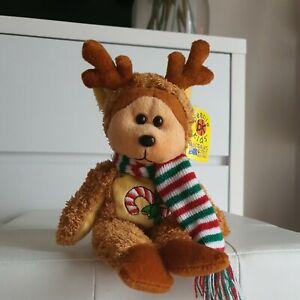 "SKANSEN BEANIE KIDS christmas ""Donner The Reindeer Bear"" 2006 W TAGS BK560"