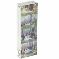 Clear Acrylic Magnetic Photo Frames Double-Sided 2x6 Picture Display Stand