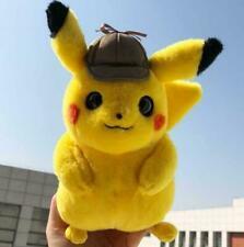 "2019 Movie Pokemon Detective Pikachu Plush Toy Doll Figure Gifts 10"""