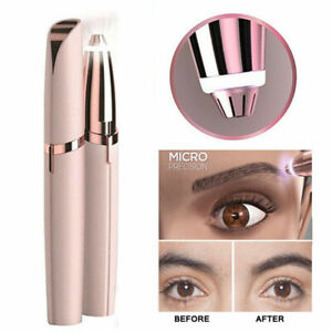 Women's Flawless Brows Facial Hair Remover Electric Eyebrow Trimmer Epilator New