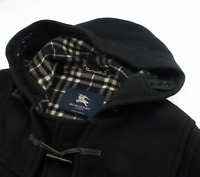 Burberry London Duffle Coat Wool Nova Check Overcoat Womens Size UK 12 M  L