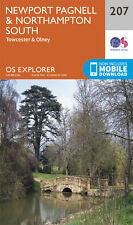 Newport Pagnell and Northampton South Explorer Map 207 - OS - Ordnance Survey