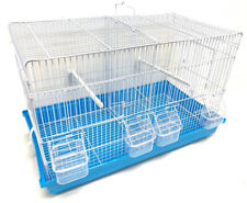 Large Center Divider Breeding Bird Flight Cage For Aviaries Finches Canaries