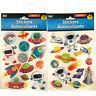 Space Alien Planets Rockets Theme Craft Scrapbook 3D Pop-Up Sticker