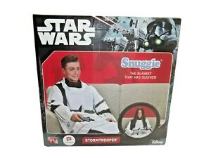 Rare Snuggie StarWars Storm Trooper Blanket With Sleeve Adult One Size Brand New