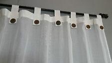 Bali Natural Cotton Cream Tab Curtains 133 cm x 200 cm