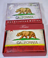 Tems Handcrafted California Bear Flip Bifold Wallet