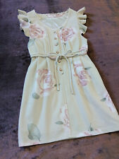 LIZ LISA Dress Japan-M Beige Cornsilk White Rose A-line 109 Hime&Lolita Fashion