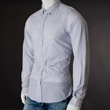 Diesel Men shirt size L large long sleeve striped INDIA Genuine