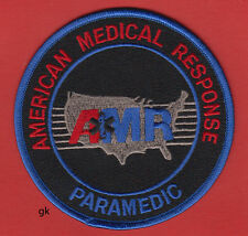AMR PARAMEDIC BLACK AMERICAN MEDICAL RESPONSE PATCH