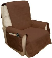 Chair Slipcover Sofa Recliner Furniture Cover Non Slip Brown Waterproof 3 Pocket