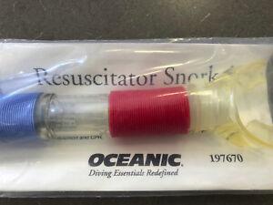 Scuba Oceanic Resuscitator Snorkel In-water artificial resuscitation device