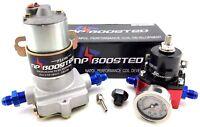 140 GPH HOT ROD RACING Electric Fuel Pump Kit with Reg & Gauge 14 PSI Universal