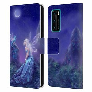 OFFICIAL RACHEL ANDERSON PIXIES LEATHER BOOK CASE FOR HUAWEI PHONES