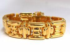 14kt. Greek Icon Link Bracelet 33 Gram