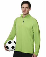 Tri-Mountain Men's Quarter Sleeve Half Zip Pullover Winter T-Shirt. 659