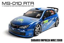 MST MS-01D RTR 1/10 Scale 4WD RC Drift Car w/carbody-SUBARU IMPREZA WRC 2008