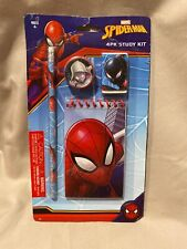 Marvel Spider-man - 4 Pieces Stationary Set Back to School Supplies for Kids