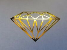 Diamond Yellow Chrome other Colors Decal Sticker Bling car laptop any surface