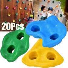 20x Textured Climbing Holds Rock Wall Stones Hand Feet Safe Kids Gift Assorted